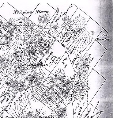 1898 map of former Lafferty Ranch on Sonoma Mountain